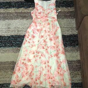 Leith watercolor maxi dress size medium
